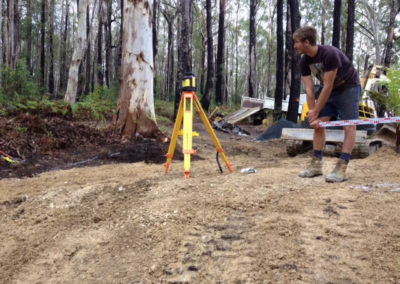 Cape Byron Excavations Machinery - Construction Worker on Project Site